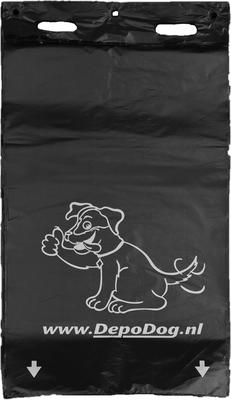 Zwarte hondenpoepzakjes recht model