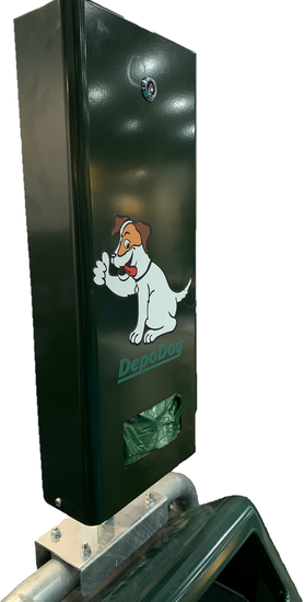 Beugel voor bevestiging DepoDog Junior aan Bammens afvalbak