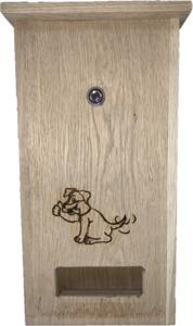 DepoDog Wood, unieke houten hondenpoepzakjesdispenser