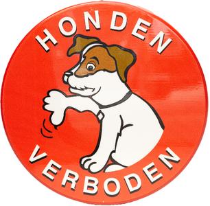 Verboden voor honden verwijsbord