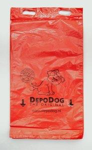 Hondenpoepzakjes blok rood recht model
